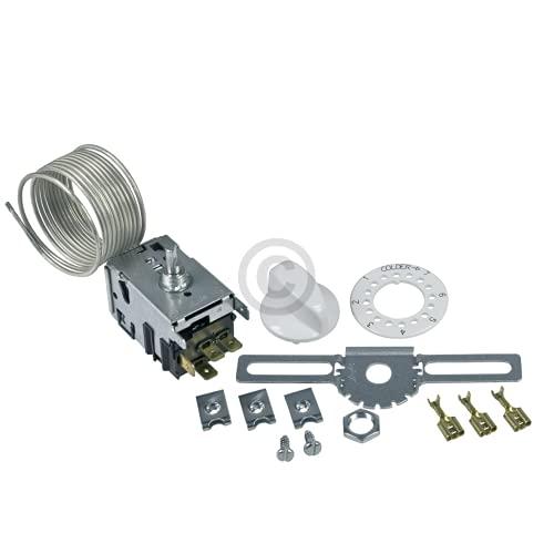 DL-pro Universal Thermostat für Danfoss NR3 077B7003 4x6,3mm AMP Kühlthermostat Servicethermostat Kühlschrankthermostat Temperaturregler 3Sterne für Kühlschrank mit automatischer Abtauung