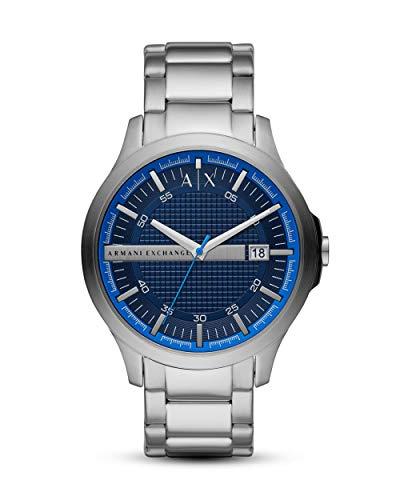 Emporio Armani Herren Analog Quarz Uhr mit Edelstahl Armband AX2408