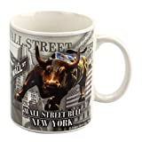Torkia - Wall Street Bull Ceramic Coffee Mug - 11oz (White)
