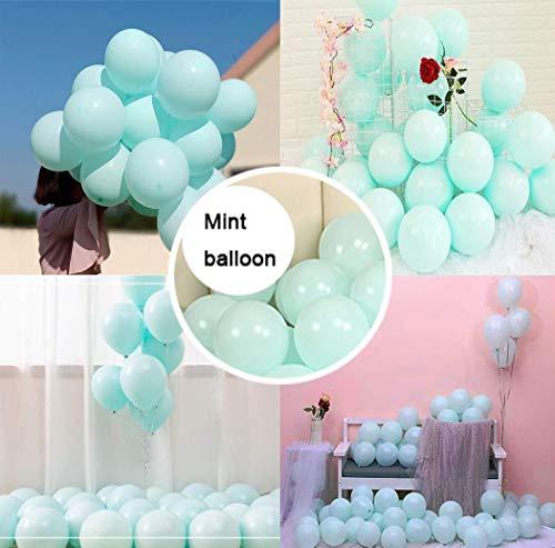 HNTHBZ Ballon 100 PC-Macaron Blloon Pastell Lila, Blau, Süßigkeit Farbige Naturlatexballons for Geburtstag, Hochzeit, Partydekoration Bunter Ballon-10INCH