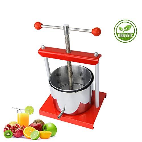 SQUEEZE master Mini Obstpresse 6 L Obst Wein Presse, Pressung für Trauben, Obst, Fleisch, Herbs,Fett, Gemüse Käseherstellung, Edelstahl