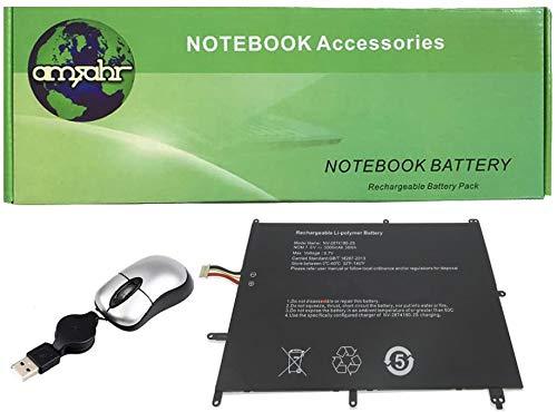 Amsahr Ersatz-Laptop Akku für JMPR NV-2874180-2S, EzBook X4 S4, bben AK14, NC14, MT133 | Inklusive Mini Optical Mouse