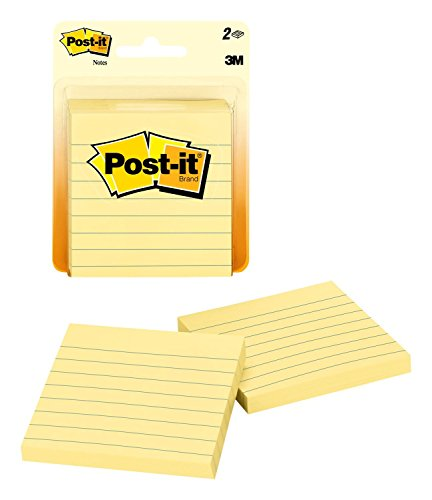 Post-it Notes 3x3 in, 2 Pads, America's�s #1 Favorite Sticky Notes, Canary Yellow, Clean Removal, Recyclable (630PK2)