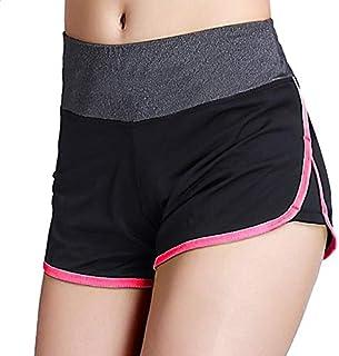 2018 Women Yoga Shorts Gym Workout Waistband ny Sport Shorts for Women Summer Jogging Trouser Gym Shorts:M, M