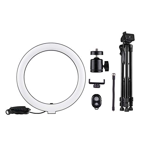 GZA 10inch LED Ring Light with Tripod Stand Phone Holder Remote Shutter Light for Live Streaming Makeup Photography Youtube