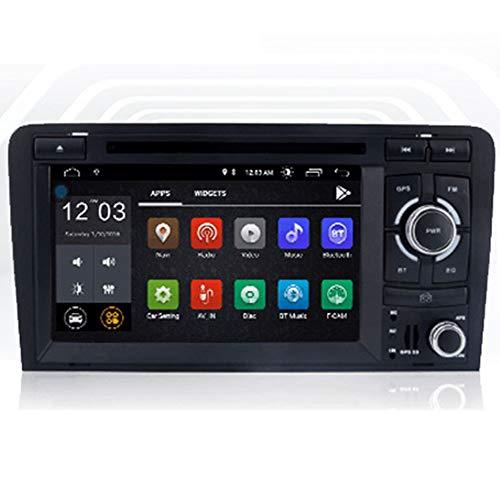NBVNBV Multimedia Video Player Touchscreen Auto GPS Navigationssystem Radio Fit für A-u-d-i A3 8P/A3 8P1 3-Door Hatchback/S3 8P/RS3 Sportback Bluetooth AM/FM-Tuner,1gb+16gb