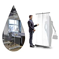 JCXT. くしくしガードテレスコピックの流行防止透明スクリーン保護シールド、床ロールアップバナースネイズガード、携帯用クリアスタンド絶縁障壁衛生衛生区画スクリーン、レストラン、美容室 (Size : 39.3x78.7in(100x200cm))