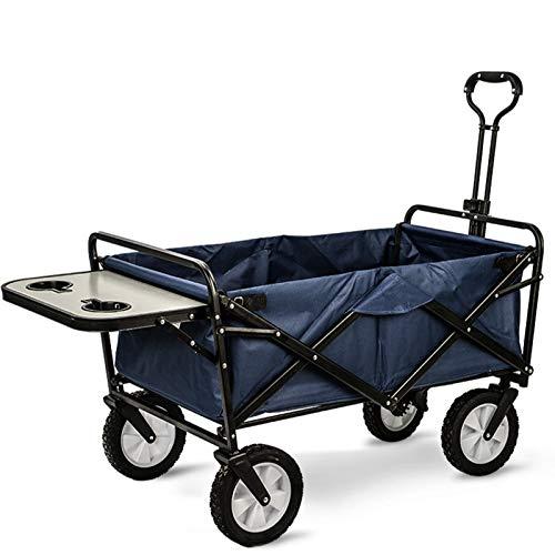 DUTUI Picnic portátil al aire libre supermercado mascota plegable cuatro ruedas, pesca, compras de comestibles, camping coche camping, 80 x 50 x 28 cm, 13