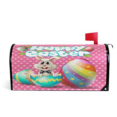 Wamika Happy Easter Bunny Eggs sur boîte aux Lettres magnétique Rose Taille Standard 51 x 46 cm 52.6x45.8cm Multicolore
