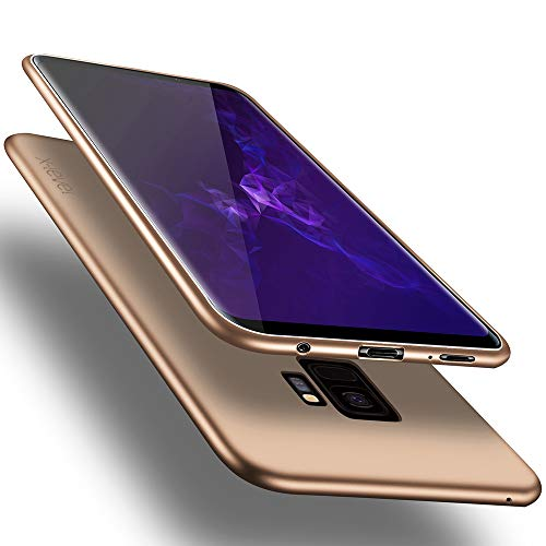 X-level Samsung Galaxy S9 Case, Slim Fit Soft TPU Ultra Thin S9 Mobile Phone Cover Matte Finish Coating Grip Phone Case for Women Compatible Samsung Galaxy S9-Gold
