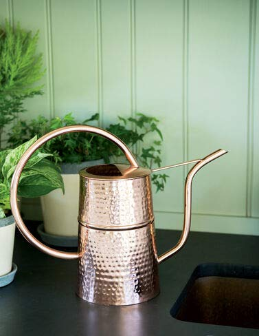 Gardener's Supply Company Copper Indoor Watering Can for Houseplants, Succulents, Seeds, and Herbs