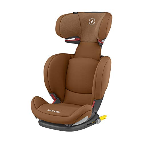 Maxi Cosi RodiFix AirProtect (AP) Kindersitz Gruppe 2/3, ISOFIX-Sitzerhöhung, optimaler Seitenaufprallschutz, 3,5 - 12 Jahre, 15 - 36 kg, (braun) Authentic Cognac