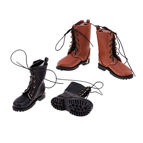 Sharplace Accesorios de Zapatos de Botas de Hombre a Escala 2X 1/6 para Ropa de Cuerpo de Masculina de 12 '