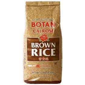 BOTAN Calrose Brown Rice, 5-Pound