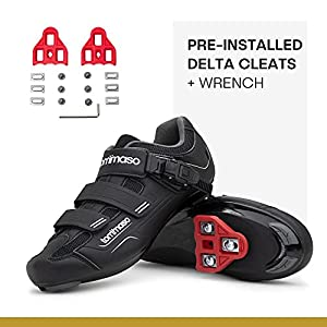 Tommaso Strada 200 Dual Cleat Compatible Indoor Cycling Class Ready Bike Shoe - Look Delta - 43