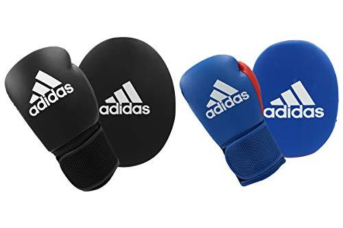 adidas Boxhandschuhe und Fokussier-Handschuhe, Set für Erwachsene Herren Damen Kinder Fitness Training Workout Gym Pads 284 g 170 g, Blau