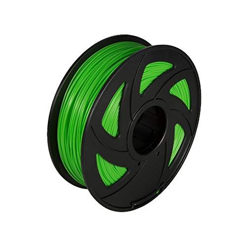 Fucaiqian CCH-YS, 1 pieza de plástico PLA para impresora 3D de 1,75 mm de carrete de nailon de 1 kg de filamentos de impresión 3D (color: verde)