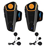 Fodsports BT-S2 Casque de Moto Intercom Casque interphone Système de Communication...