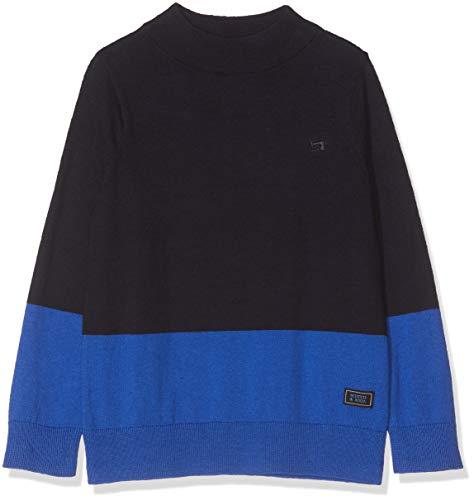 Scotch & Soda Jungen Mock Neck Pull in Cotton-Cashmere Quality Pullunder, Mehrfarbig (Combo A 217), 104 (Herstellergröße: 4)