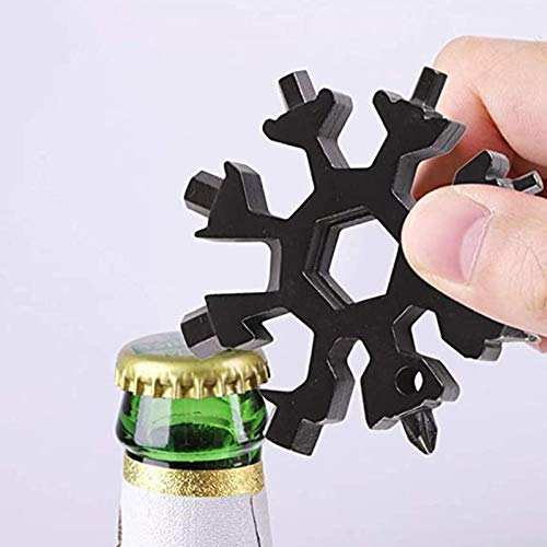 Prom-note 18-in-1 Snowflake Multi Tool, Stainless Portable Steel Multi-Tool For Outdoor Travel Camping Adventure Daily Tool Best Hand Tools Gift For DIY Handyman, Father/Dad, Husband