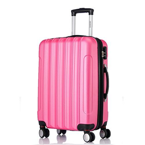 BEIBYE LG2050 doble ruedas carcasa rígida maleta estuche de viaje, rosa, extra-large