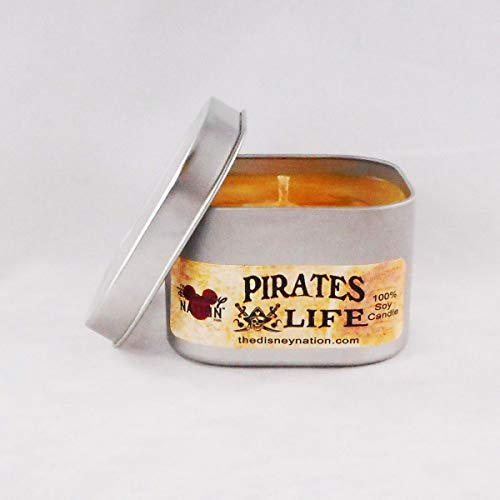 Pirates Life Series - Disney Parks Scented Candle - 8 oz 100% Soy Wax Candles