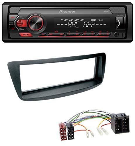 caraudio24 Pioneer MVH-S100UB USB AUX MP3 1DIN Autoradio für Citroen C1 Peugeot 107 (05-14)
