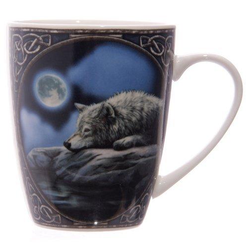 Porzellan Tasse, Lisa Parker Wolf Auf Fels Liegend
