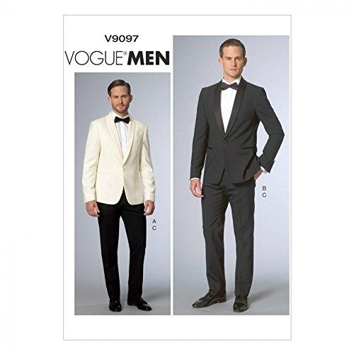 Vogue Herren-Schnittmuster 9097 Jacke und Hose, Anzug