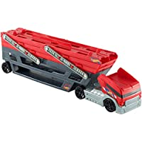 Hot Wheels Mega Hauler Truck with 4 Cars (Red / Black)