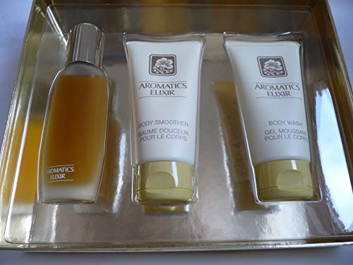 Clinique 018172 Aromatics Elixir Set With Body Smoother and Body Wash