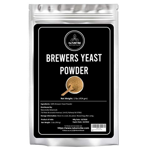 Naturevibe Botanicals Brewers Yeast Powder 1lb | Gluten Free | Great for Breastfeeding Mothers | Add to cookies as lactation supplement