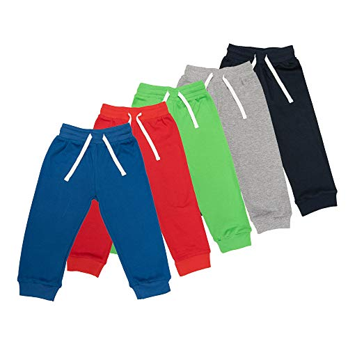 Lovjoy Pantalones Informales para bebés y niños y niñas / 100% algodón, Suaves y cómodos (5, 12-18 Meses)