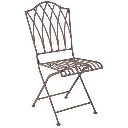 linoows Gartenstuhl Erfurt, Stuhl im Retro Design, Balkonstuhl, Bistro Stuhl aus Eisen
