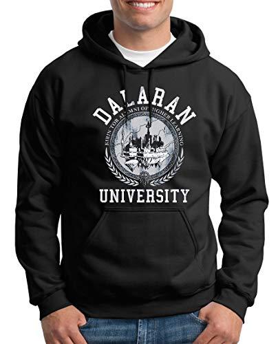 TShirt-People Dalaran University Kapuzenpullover Herren Wow Nerd Gamer M Schwarz