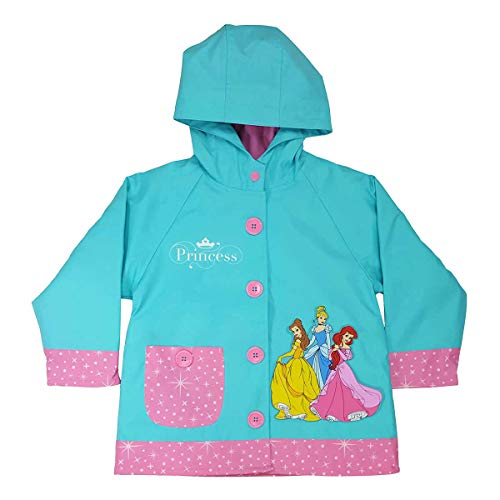 Western Chief Girls Disney Princess Party Rain Coat Teal 3T