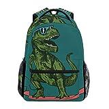 School Backpack Skateboard Dinosaur Teens...