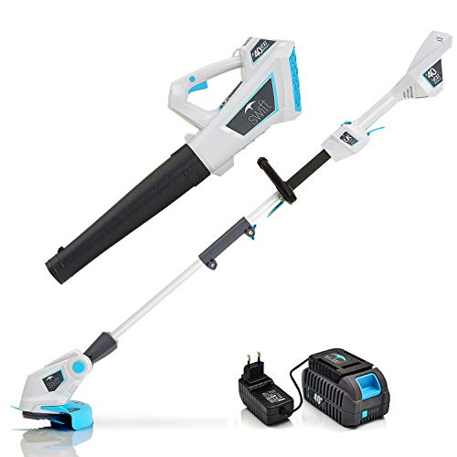 Lowest Price! Swift 40V Cordless String Trimmers 9000 RPM Grass Trimmer Edger and Leaf Blower Twin P...