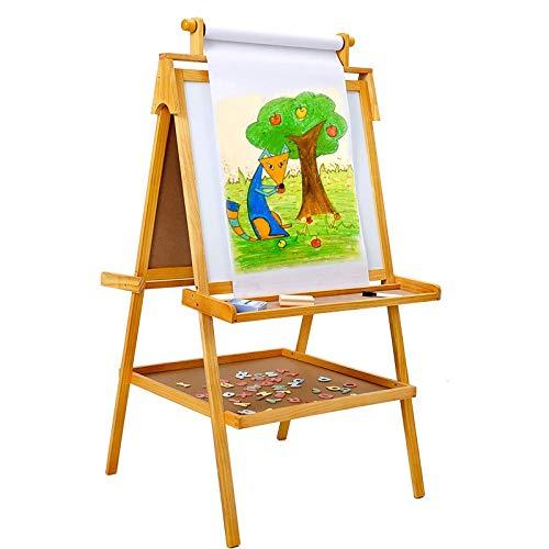 Kids Ezel met Paper Roll Dubbelzijdig Whiteboard & school bord Permanent Ezel met Eraser, Krijt en andere accessoires for Kids 411
