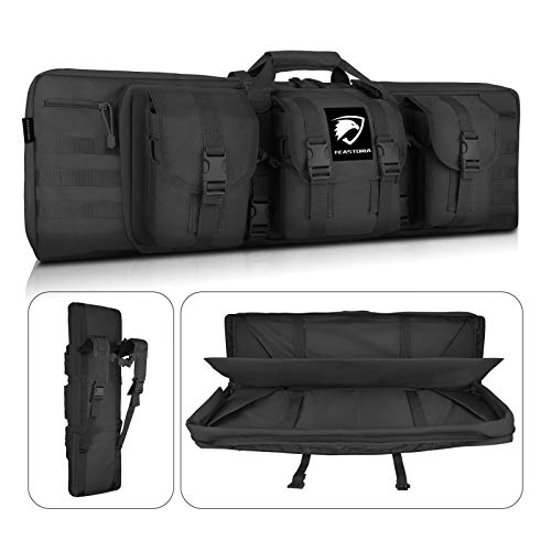 Feastoria Double Long Soft Rifle Case, American Classic Durable Tactical Carbine Rifle Bag & Multi-Function Gun Bag, Perfect for Rifle and Pistol Storage or Transportation,Available Length in 36