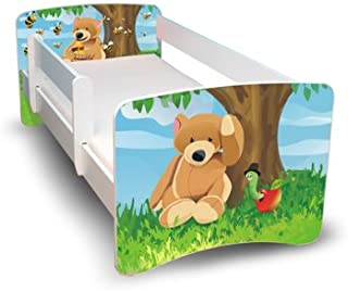 Best For Kids Chilldren s Bed 80x160 with Guardrail Protection Drawer Designs  Bear
