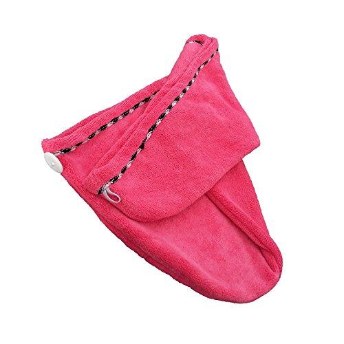Toalla De Secado Rápido Para El Cabello Boocy, De Microfibra, Tipo Turbante, (Color Rosa)