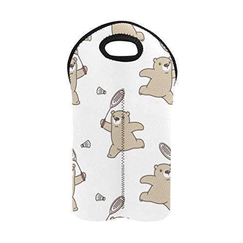 Bolsa para botellas de vino Entretenimiento de dibujos animados Raqueta de bádminton Bolsa para vino Porta botellas doble Bolsas y portabotellas para vino Soporte para botellas de vino de ne