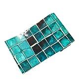 VOSAREA 500 x 20 cm Anti-Oil Wallpapers Impermeable imitación Muebles de mármol Autoadhesivo Papel Pintado Cocina baño Mosaico de Azulejos
