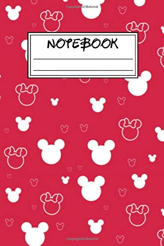 Notebook: Mickey Mouse And Minnie Mouse Cartoon Character School Blank Lined Journal, Diary, Sketchbook, Coloring Book, Comics, Calendar 2020, Sticker ... Activity Book, Gift For Kids, Girls, Boys