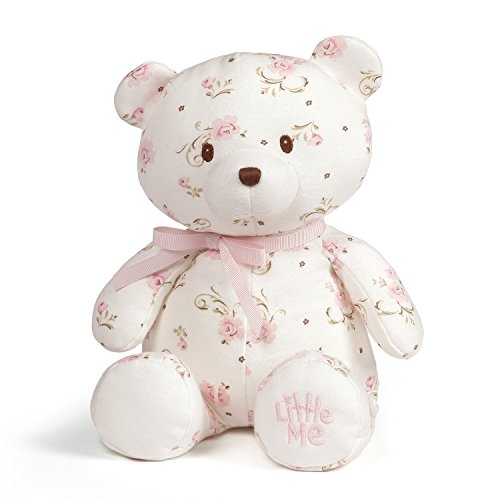 Baby GUND x Little Me Vintage Rose Teddy Bear Plush Stuffed Animal, 10'