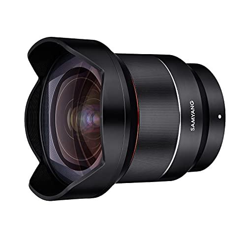 SAMYANG 8010 AF 14mm F2,8 FE für Sony E Mount Objektiv I Weitwinkel mit 113,9° Bildwinkel, präzisem Autofokus I Festbrennweite für alle spiegellosen Sony E Vollformat, APS-C Kameras I Metallgehäuse