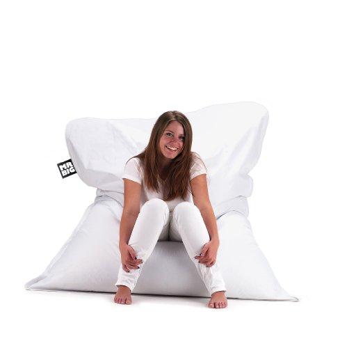 Maxi cuscino pouff colorato Mr. Big - One - Bianco