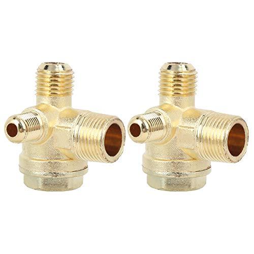 Válvula de retención de válvula de retorno de conector de tubo de 90 grados alta resistencia a la compresión de tres vías para compresor de bomba de aire para sistema de fluidos