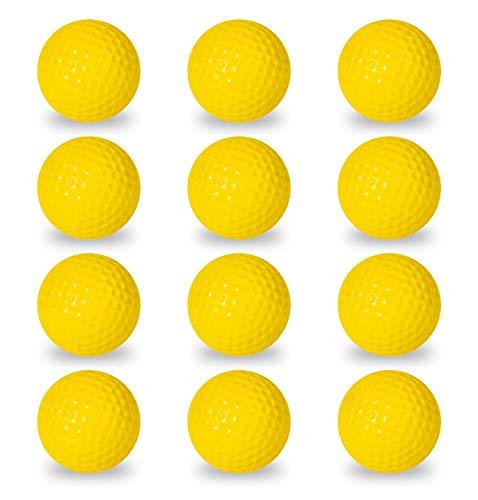 Franklin Sports Schaumstoff-Golfbälle - Offizielle Größe - Indoor oder Outdoor Golf Training - eingeschränkter Ballkampf für Golfübungen - 12er Pack - Optisches Gelb - Hinterhof Training